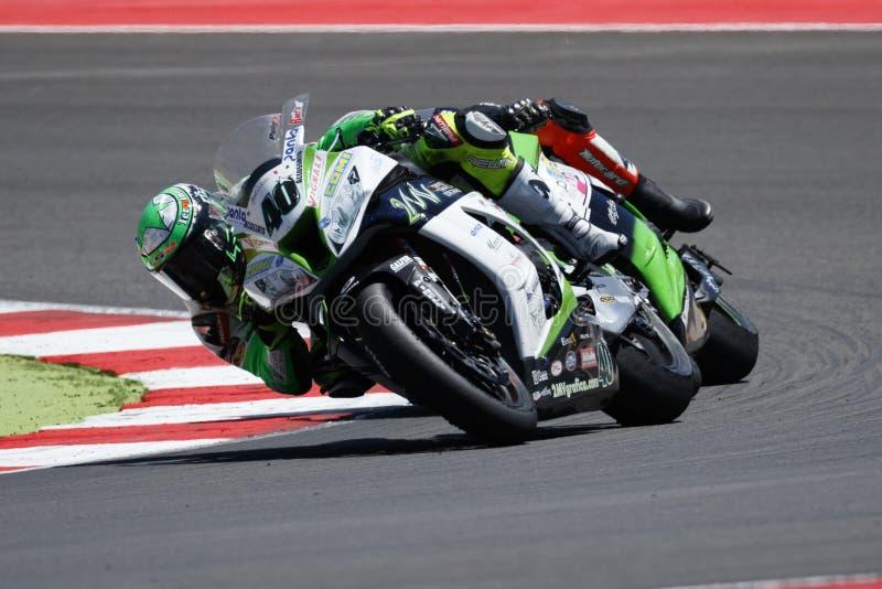 Παγκόσμιο πρωτάθλημα FIM Superbike - φυλή 2 στοκ εικόνες με δικαίωμα ελεύθερης χρήσης