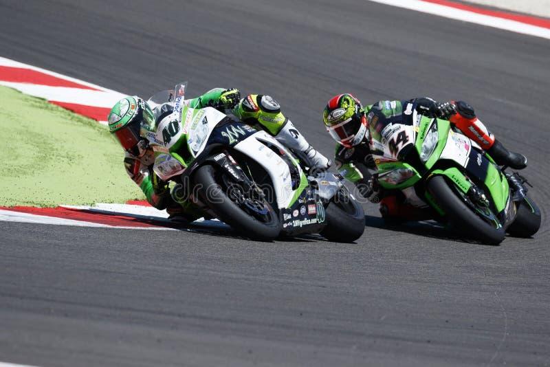 Παγκόσμιο πρωτάθλημα FIM Superbike - φυλή 2 στοκ εικόνες