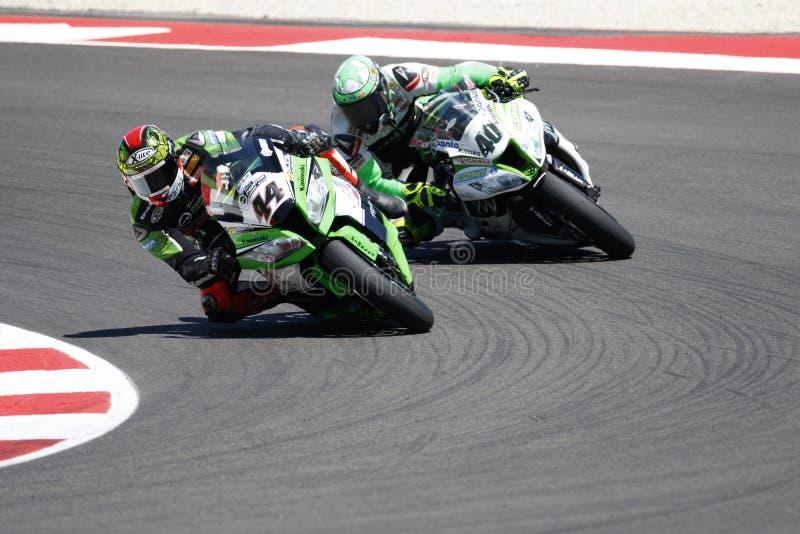 Παγκόσμιο πρωτάθλημα FIM Superbike - φυλή 2 στοκ φωτογραφία με δικαίωμα ελεύθερης χρήσης