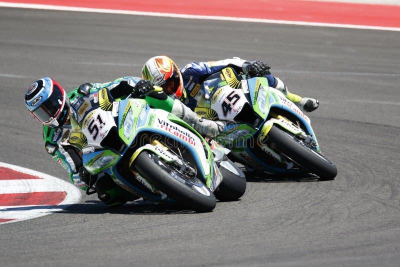Παγκόσμιο πρωτάθλημα FIM Superbike - φυλή 2 στοκ φωτογραφίες με δικαίωμα ελεύθερης χρήσης