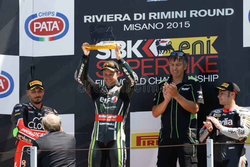 Παγκόσμιο πρωτάθλημα FIM Superbike - φυλή 2 στοκ εικόνα