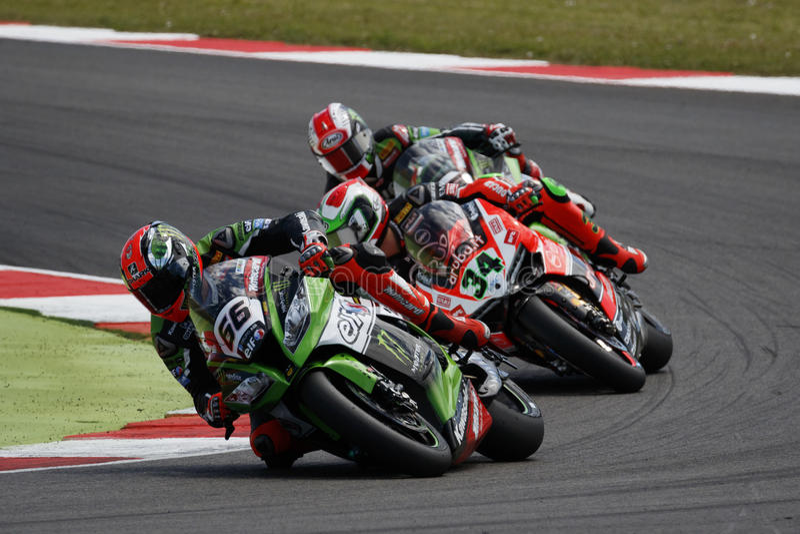 Παγκόσμιο πρωτάθλημα FIM Superbike - φυλή 2 στοκ φωτογραφία