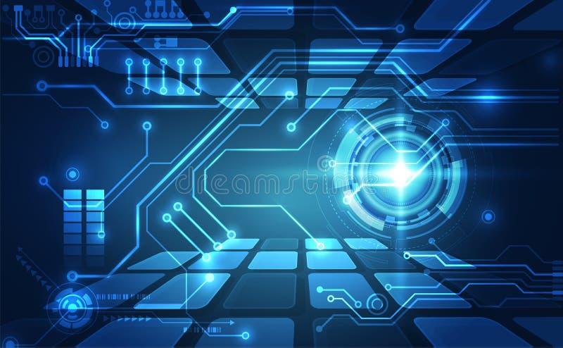 Παγκόσμιο σύστημα πίνακα κυκλωμάτων αφηρημένου υλικού για διανύσματα, Απεικόνιση υψηλής ψηφιακής τεχνολογίας έννοια μπλε χρώματος στοκ φωτογραφίες
