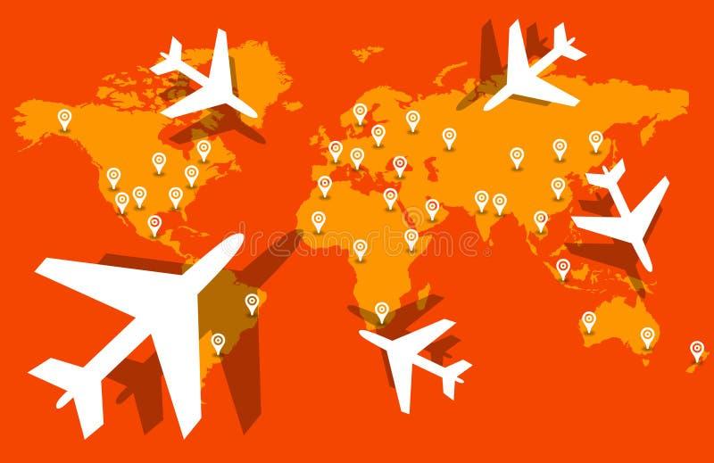 Παγκόσμιο ταξίδι διανυσματική απεικόνιση
