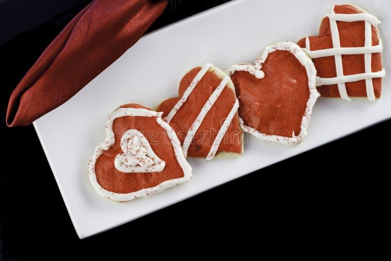 Παγωμένα μπισκότα καρδιών στοκ εικόνα
