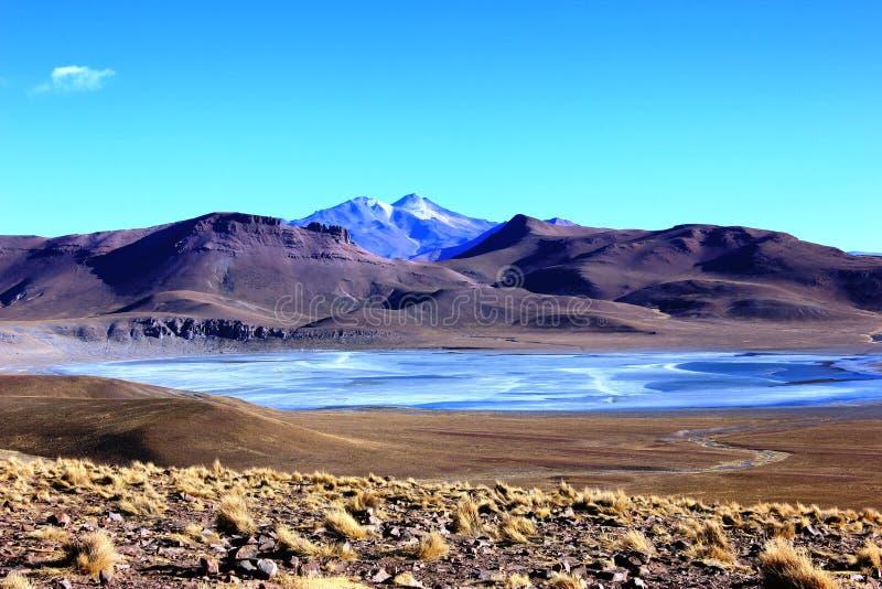 Παγωμένη λίμνη Βολιβία στοκ φωτογραφία
