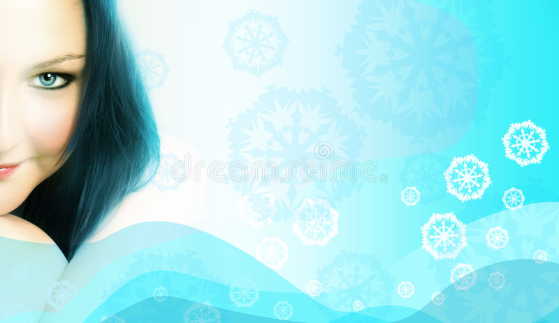 παγωμένη γυναίκα στοκ εικόνες με δικαίωμα ελεύθερης χρήσης