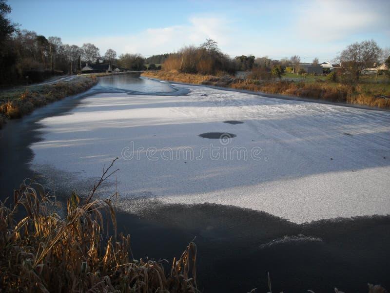 Παγωμένος ποταμός Boyne στοκ φωτογραφίες με δικαίωμα ελεύθερης χρήσης