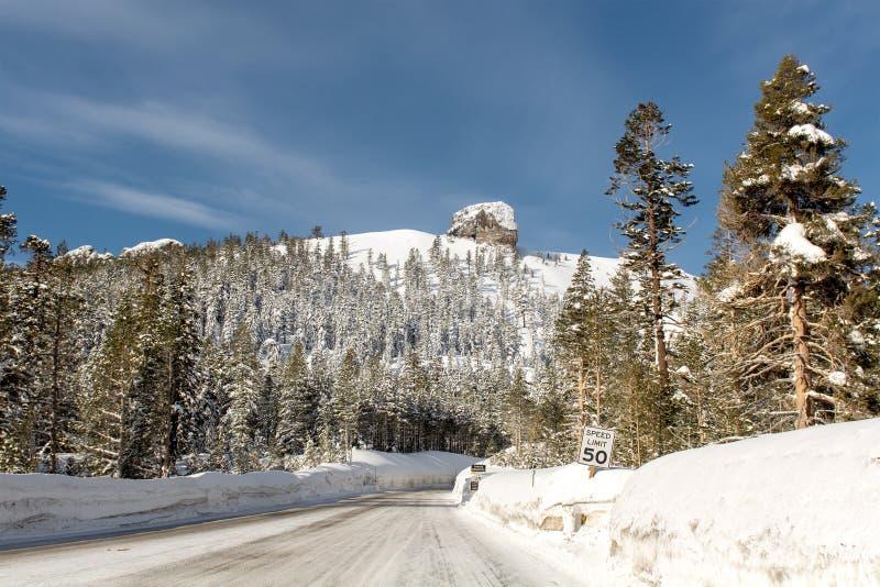 Παγωμένη εθνική οδός στην περιοχή του Carson, Καλιφόρνια, ΗΠΑ στοκ φωτογραφία με δικαίωμα ελεύθερης χρήσης