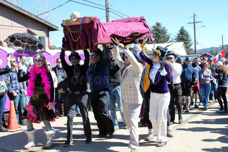 Παγωμένη νεκρή παρέλαση τύπων στοκ φωτογραφία