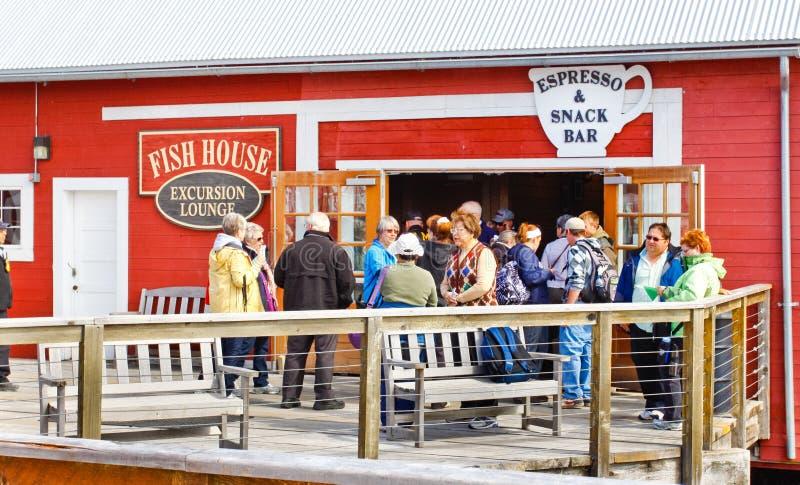 Παγωμένη ράβδος πρόχειρων φαγητών σημείου στενών της Αλάσκας στοκ φωτογραφία με δικαίωμα ελεύθερης χρήσης