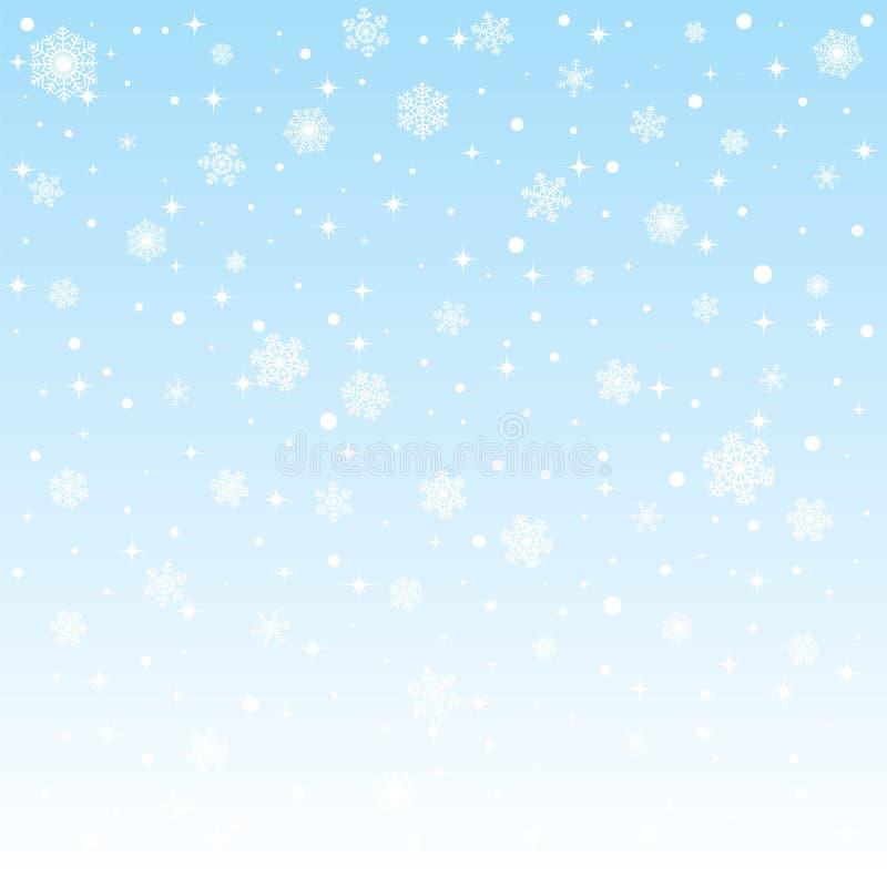 Παγωμένη Χριστούγεννα ανασκόπηση με snowflakes διανυσματική απεικόνιση