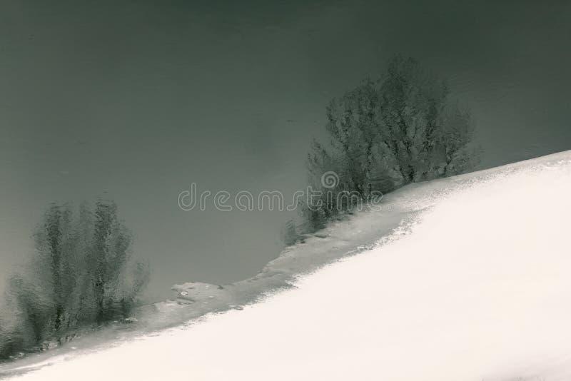 Παγωμένοι ποταμός και πάγος στοκ φωτογραφίες με δικαίωμα ελεύθερης χρήσης