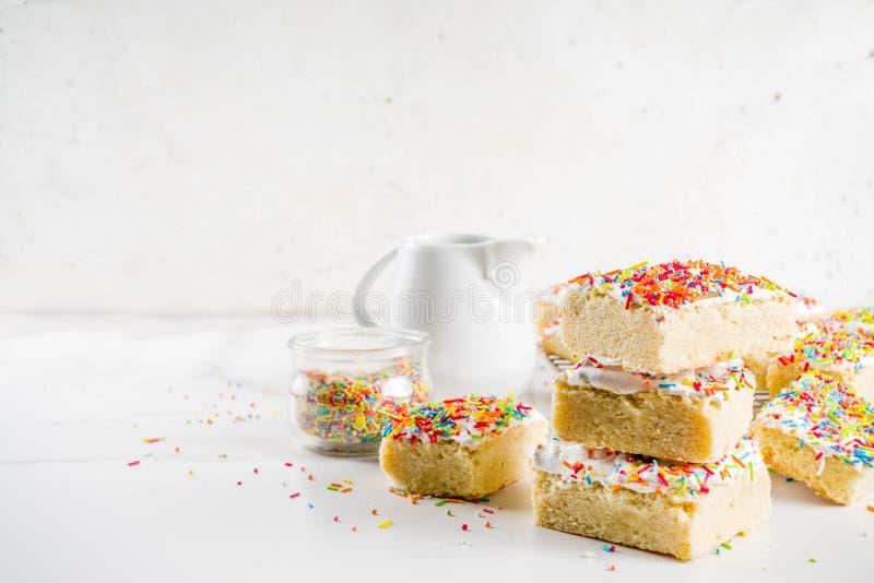 Παγωμένοι φραγμοί μπισκότων ζάχαρης στοκ εικόνες με δικαίωμα ελεύθερης χρήσης