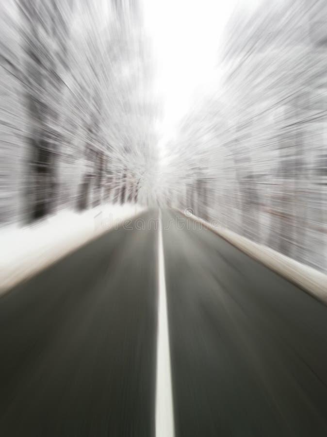 Παγωμένος δρόμος - κίνδυνος για την έννοια οδηγών στοκ φωτογραφία