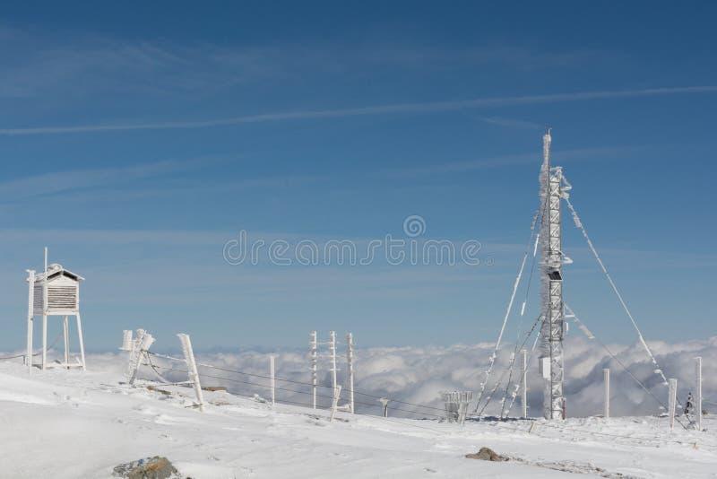 παγωμένος καιρός σταθμών στοκ φωτογραφίες