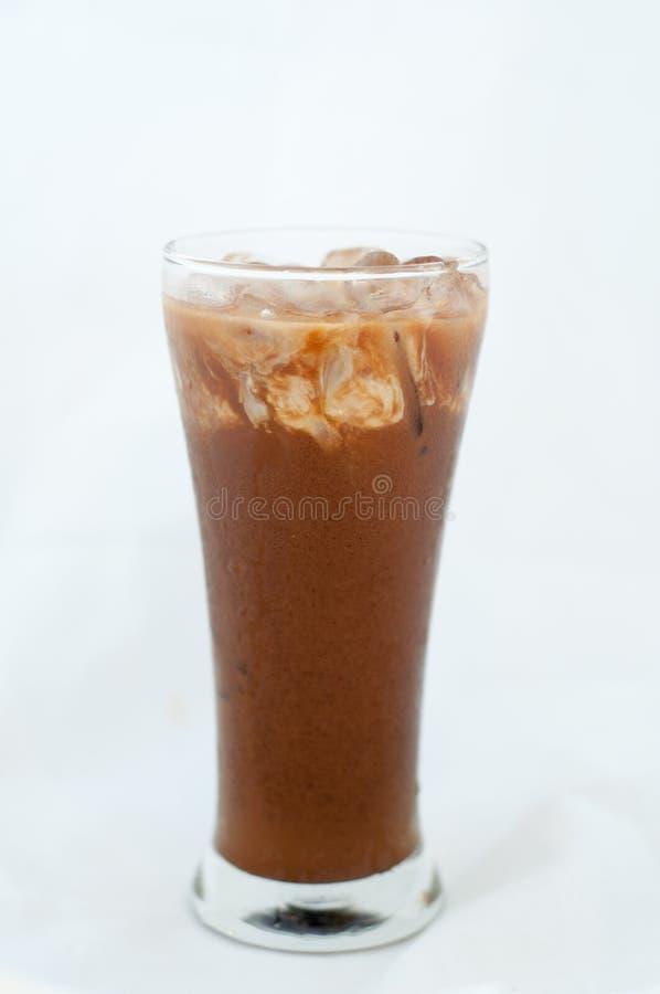 Παγωμένος καφές που απομονώνεται στο λευκό στοκ φωτογραφία με δικαίωμα ελεύθερης χρήσης