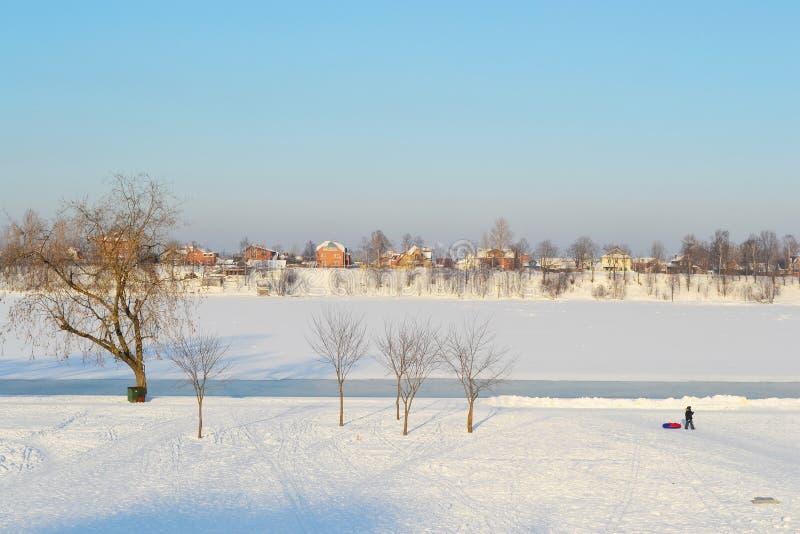 παγωμένος ποταμός neva στοκ εικόνες με δικαίωμα ελεύθερης χρήσης