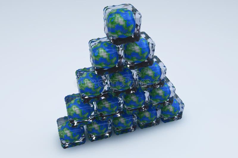 παγωμένο γη pyramide απεικόνιση αποθεμάτων