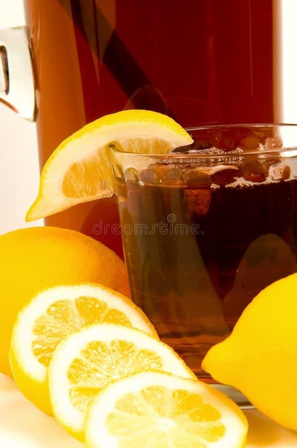 παγωμένο γυαλί τσάι στοκ φωτογραφίες