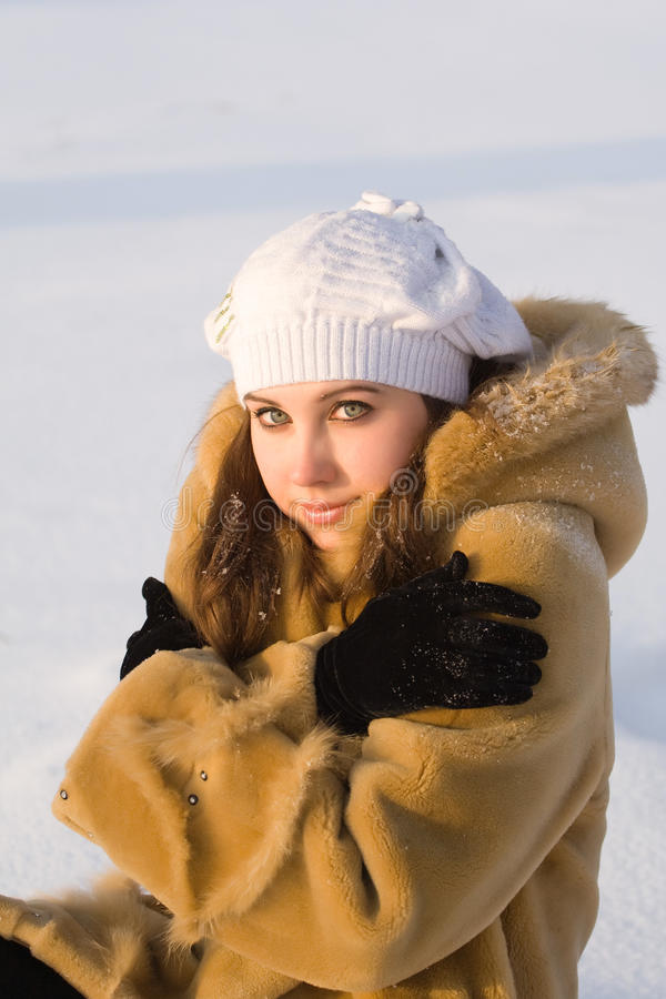 παγωμένο κορίτσι στοκ εικόνα