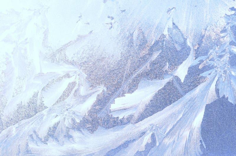 Παγωμένο παράθυρο αφηρημένο υπόβαθρο πάγου στοκ εικόνες με δικαίωμα ελεύθερης χρήσης
