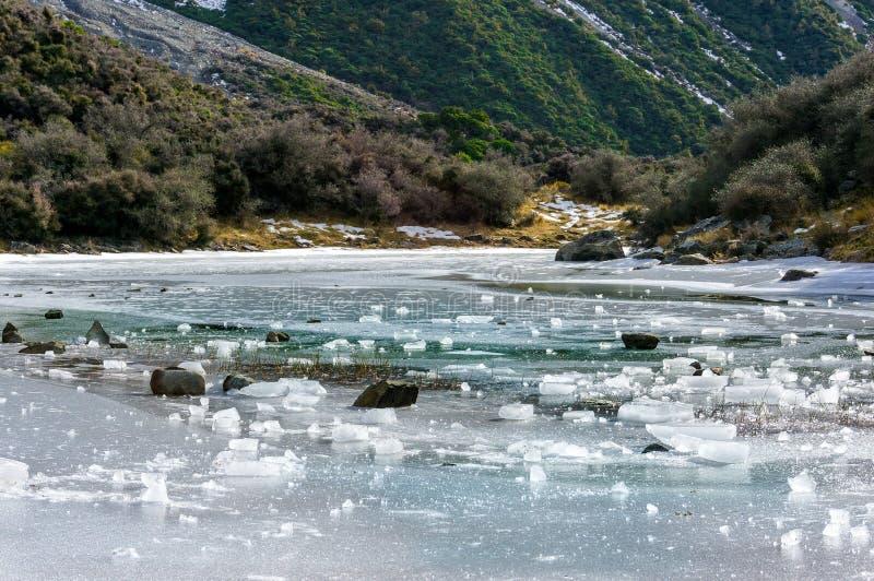 Παγωμένο τοπίο λιμνών στοκ εικόνα με δικαίωμα ελεύθερης χρήσης