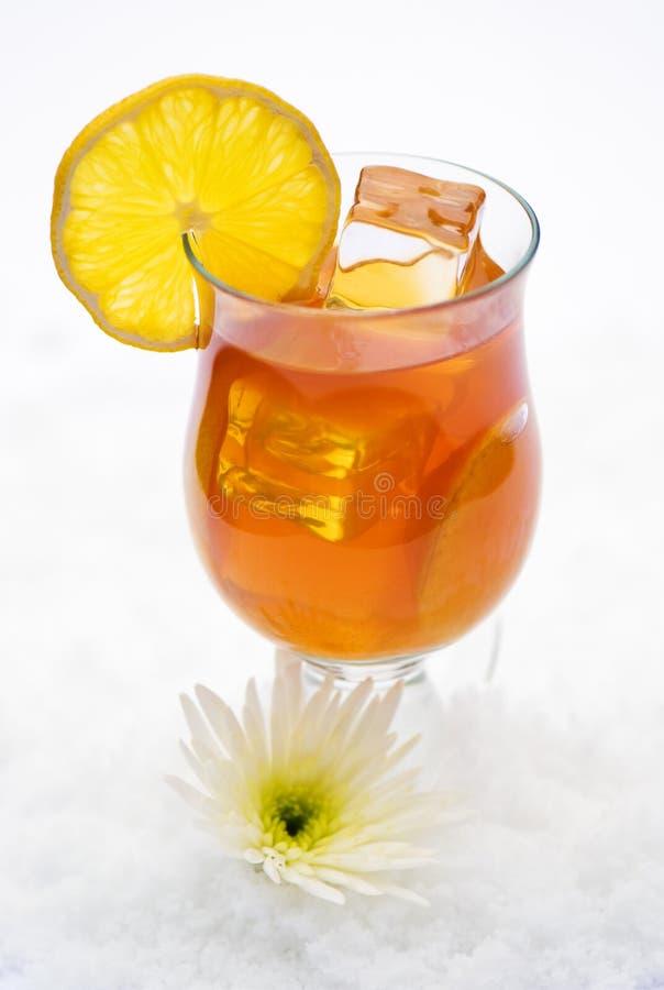παγωμένο τσάι λεμονιών στοκ φωτογραφίες