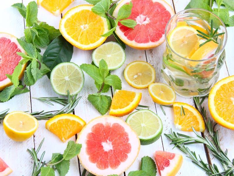 Παγωμένο τσάι μεντών με το λεμόνι στοκ εικόνα με δικαίωμα ελεύθερης χρήσης
