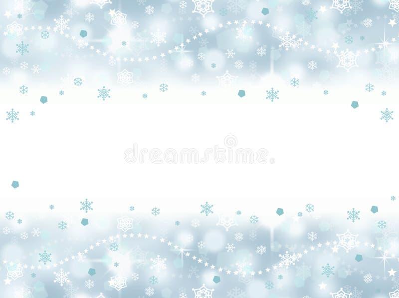 Παγωμένο snowflake aqua μπλε υπόβαθρο κομμάτων με το κενό διάστημα ελεύθερη απεικόνιση δικαιώματος
