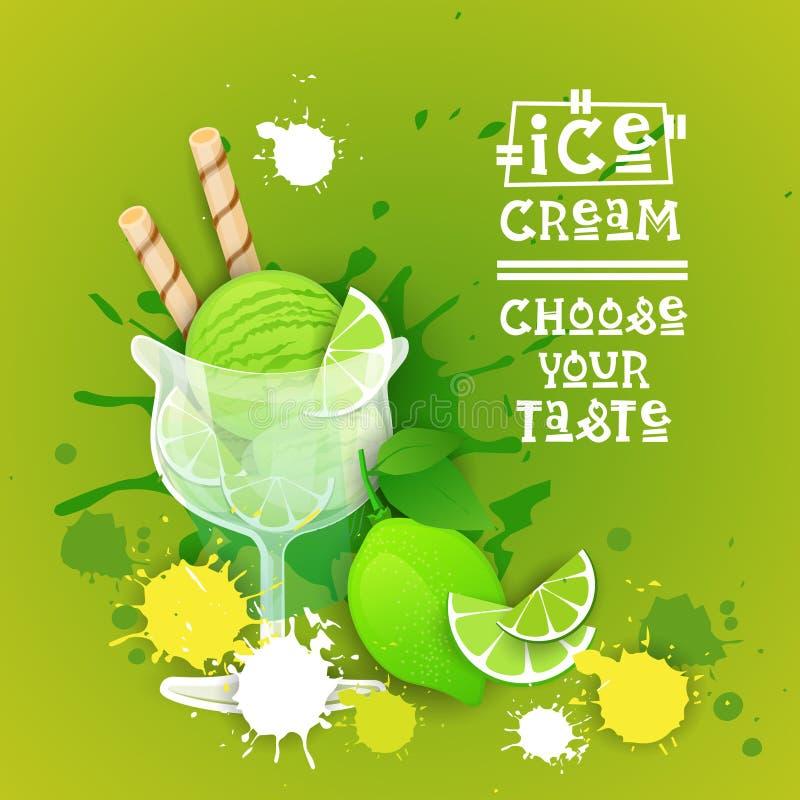 Παγωτού λογότυπων γλυκό όμορφο έμβλημα τροφίμων θερινών επιδορπίων εύγευστο απεικόνιση αποθεμάτων