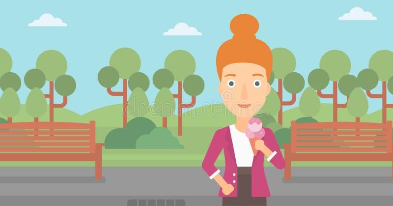 Παγωτό εκμετάλλευσης γυναικών απεικόνιση αποθεμάτων