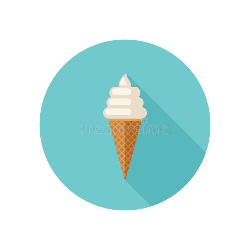 Παγωτό με τον κώνο βαφλών διανυσματική απεικόνιση