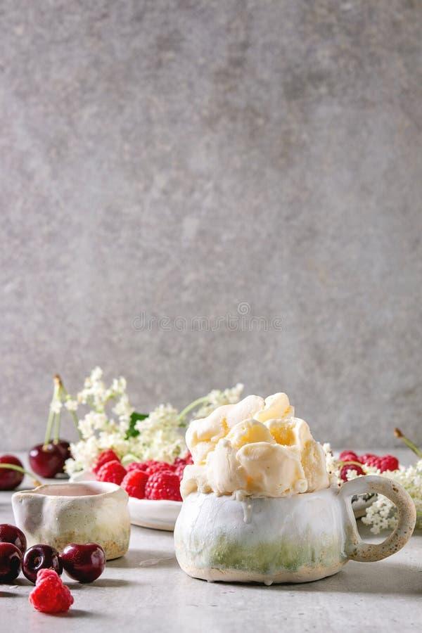 Παγωτό gelato Ricotta στοκ εικόνες