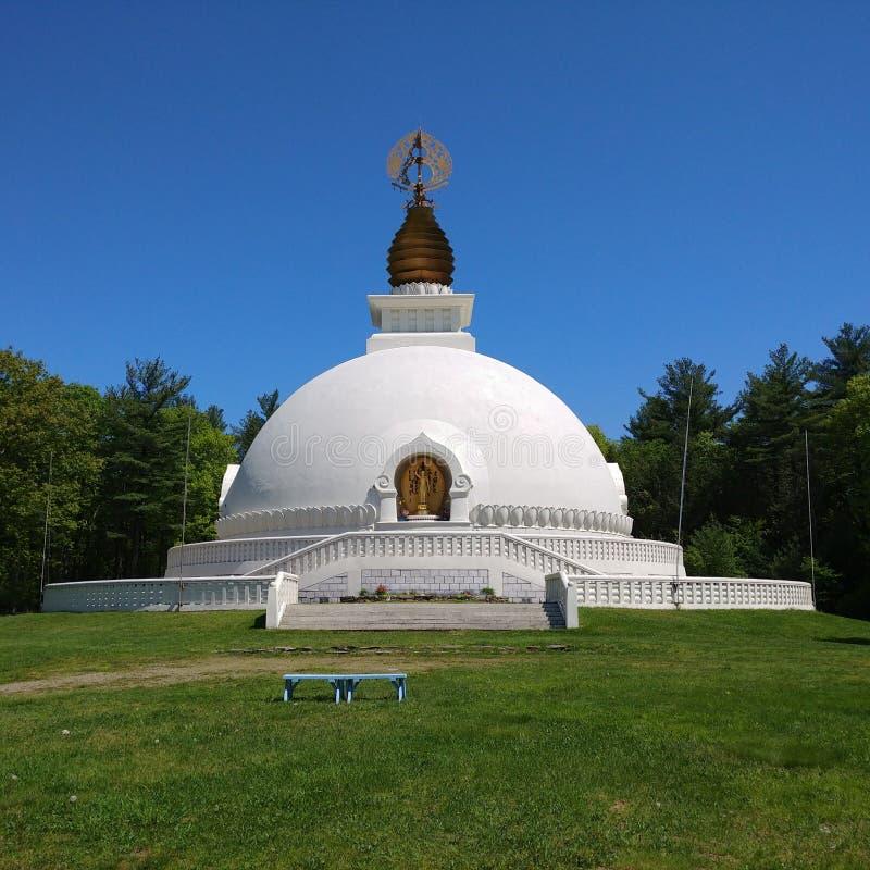 Παγόδα ειρήνης της Νέας Αγγλίας σε Leverett, Μασαχουσέτη στοκ εικόνα με δικαίωμα ελεύθερης χρήσης