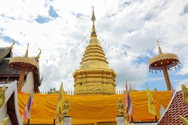 Παγόδα στο ναό στην Ταϊλάνδη στοκ εικόνες