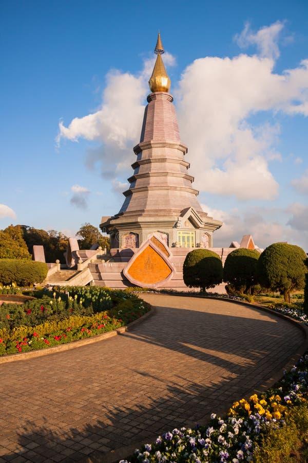 Παγόδα τοπίων στο εθνικό πάρκο Inthanon doi, chiang mai, Ταϊλάνδη, στοκ εικόνες