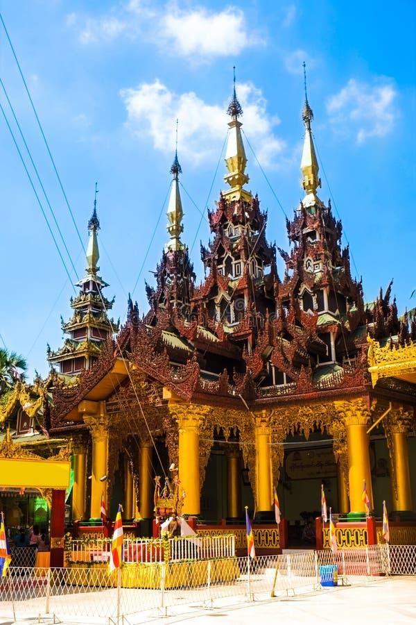 Παγόδα Yangon, το Μιανμάρ Shwedagon Άγαλμα τέχνης του Μιανμάρ μοναδικό, όμορφος, σημαντικός στοκ φωτογραφίες