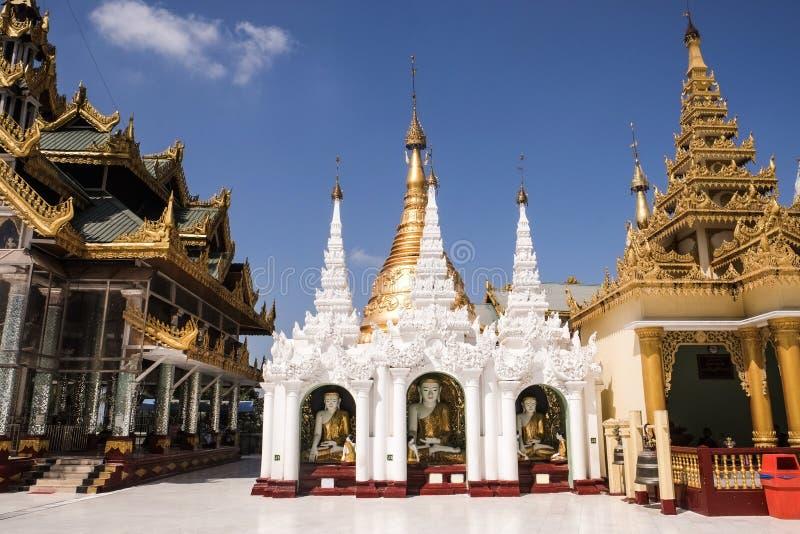 Παγόδα Yangon, το Μιανμάρ Shwedagon Άγαλμα τέχνης του Μιανμάρ μοναδικό, όμορφος, σημαντικός στοκ εικόνες