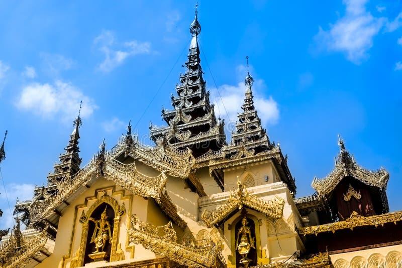 Παγόδα Yangon, το Μιανμάρ Shwedagon Άγαλμα τέχνης του Μιανμάρ μοναδικό, όμορφος, σημαντικός στοκ εικόνα με δικαίωμα ελεύθερης χρήσης