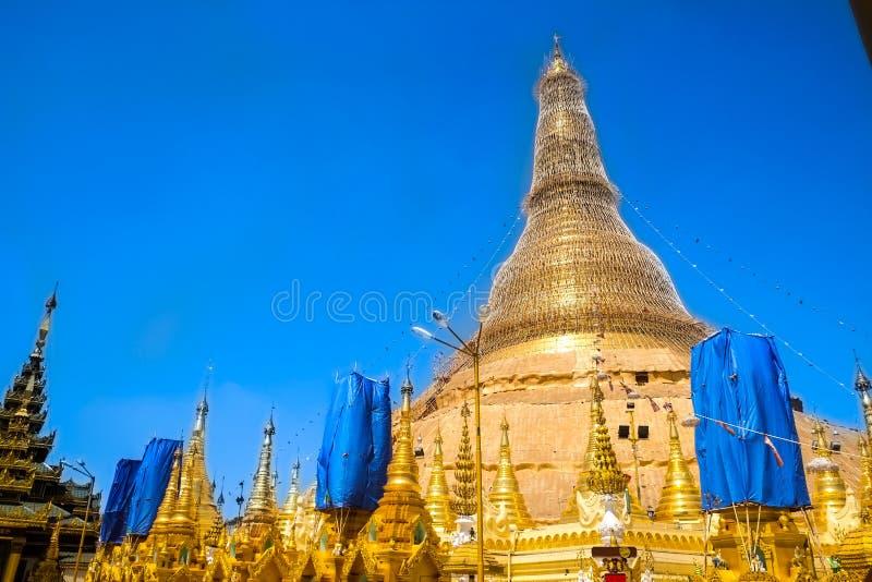 Παγόδα Yangon, το Μιανμάρ Shwedagon Άγαλμα τέχνης του Μιανμάρ μοναδικό, όμορφος, σημαντικός στοκ φωτογραφίες με δικαίωμα ελεύθερης χρήσης