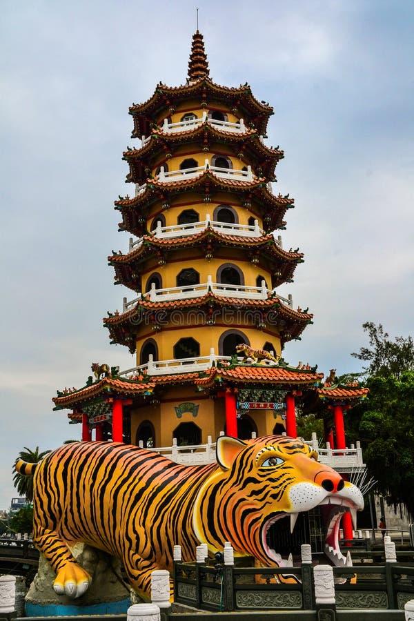 Παγόδες δράκων και τιγρών, λίμνη Lotus, Ταϊβάν στοκ εικόνες