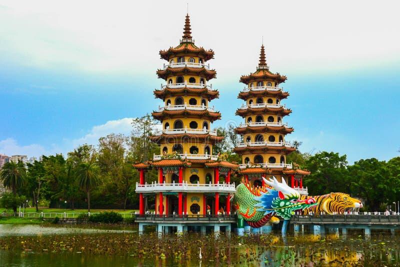 Παγόδες δράκων και τιγρών, λίμνη Lotus, Ταϊβάν στοκ φωτογραφία με δικαίωμα ελεύθερης χρήσης