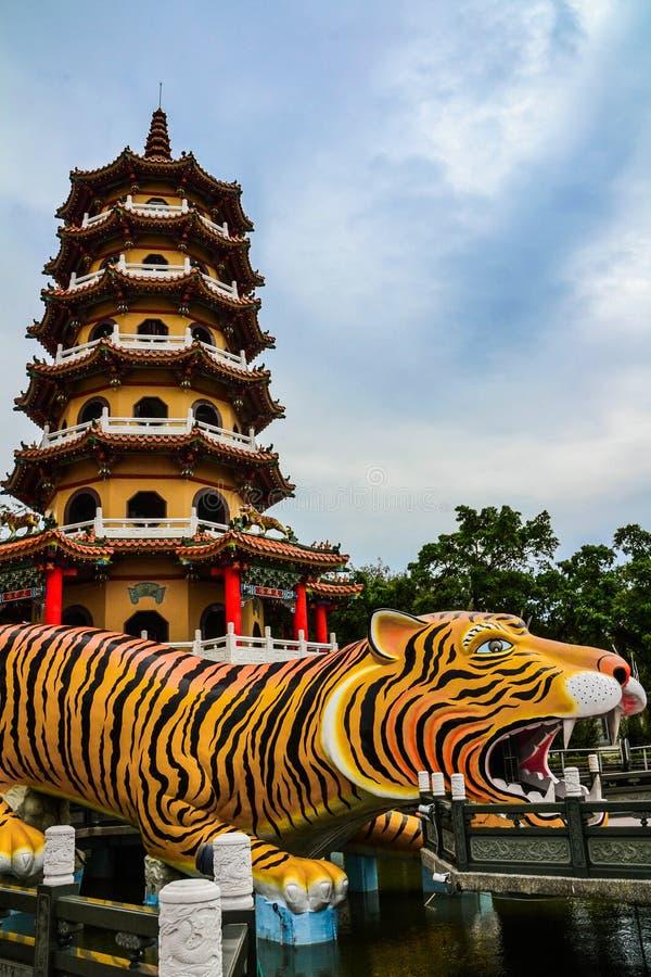 Παγόδες δράκων και τιγρών, λίμνη Lotus, Ταϊβάν στοκ εικόνα με δικαίωμα ελεύθερης χρήσης