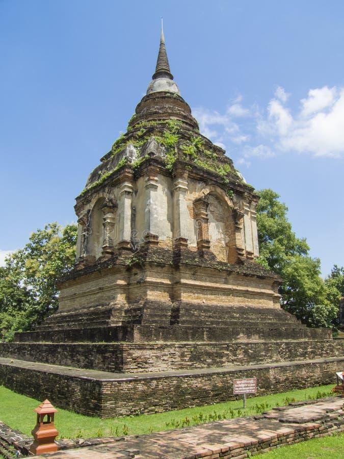 Παγόδα σε Wat Jed Yod, Chiangmai Ταϊλάνδη στοκ φωτογραφία με δικαίωμα ελεύθερης χρήσης