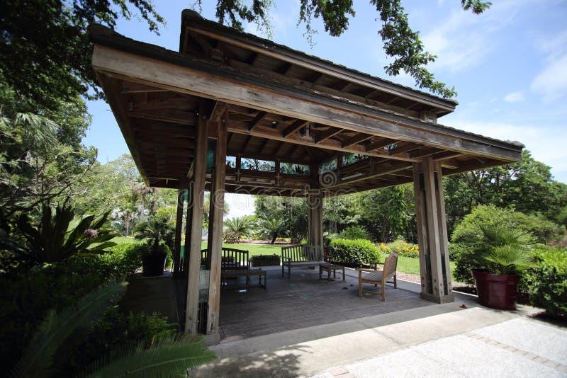 Παγόδα στους βοτανικούς κήπους της Marie Selby, Sarasota, Φλώριδα στοκ εικόνα με δικαίωμα ελεύθερης χρήσης