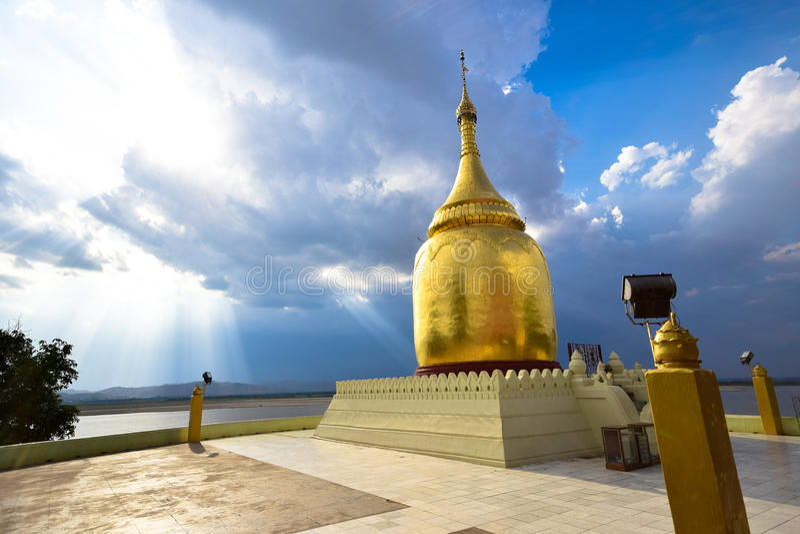 Παγόδα Bupaya, χρυσή παγόδα σε Bagan, το Μιανμάρ στοκ εικόνα με δικαίωμα ελεύθερης χρήσης