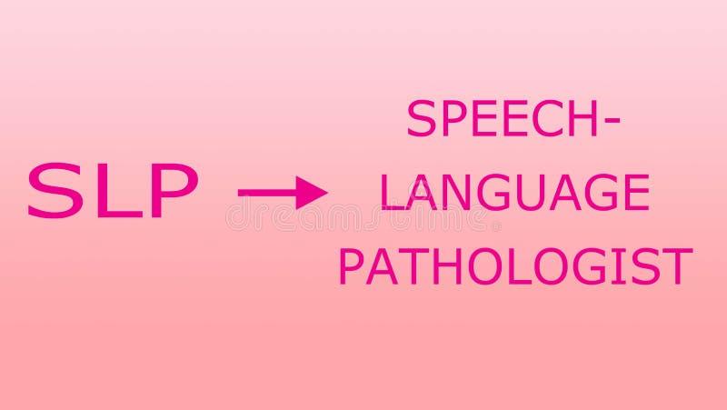 Παθολογία SLP λεκτικής γλώσσας ελεύθερη απεικόνιση δικαιώματος