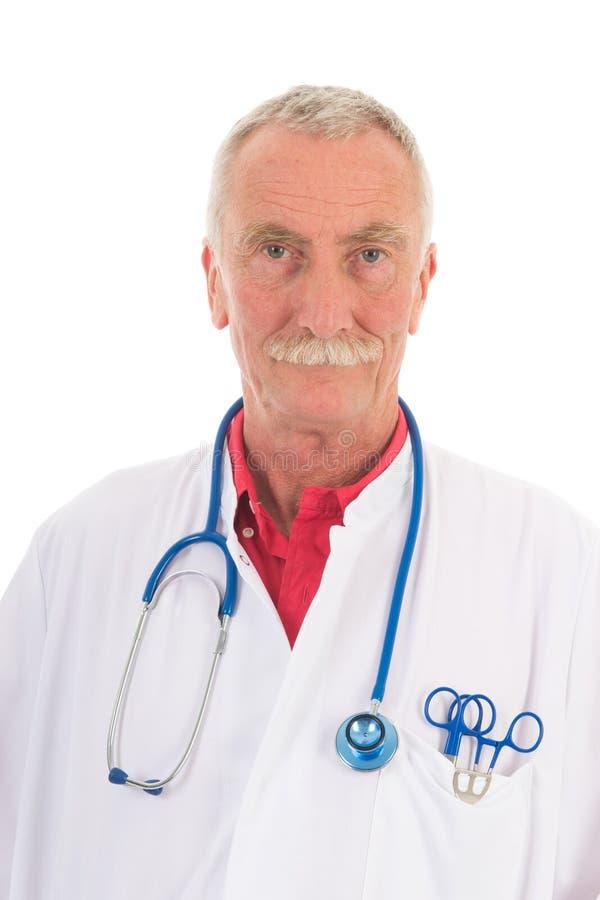 Παθολόγος στο άσπρο υπόβαθρο στοκ φωτογραφία με δικαίωμα ελεύθερης χρήσης