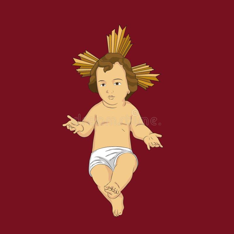 Παιδί Ιησούς ή μωρό Ιησούς απεικόνιση αποθεμάτων